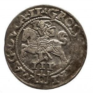 Polska, Zygmunt II August 1545–1572, trojak 1562, Wilno
