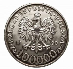 Polska, Rzeczpospolita Polska od 1989, 100000 złotych 1990, Solidarność typ A.