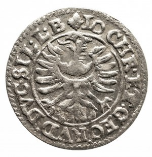 Śląsk, Księstwo Legnicko-Brzesko-Wołowskie, Jan Krystian Brzeski i Jerzy Rudolf Legnicki 1602-1621, 3 krajcary 1615, Złoty Stok