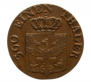 Niemcy, Prusy, Fryderyk Wilhelm III, 1797 - 1840, 1 pfenning 1821, Berlin.