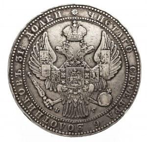 Polska, Zabór Rosyjski, Mikołaj I 1825-1855, 10 złotych - 1 1/2 rubla 1833 НГ, Petersburg.