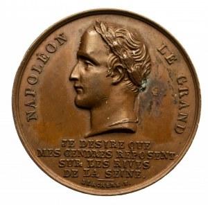 Francja, Napoleon Bonaparte, medal poświęcony sprowadzeniu szczątków Cesarza w 1840 roku do Francji