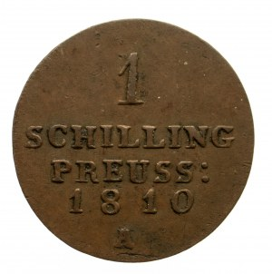 Niemcy, Prusy, Fryderyk Wilhelm III 1797-1840, szeląg 1810 A, Berlin
