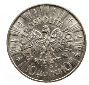 Polska, II Rzeczpospolita1918-1939, 10 złotych Piłsudski 1938, Warszawa