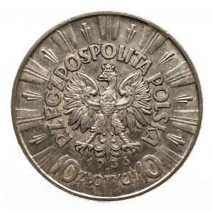 Polska, II Rzeczpospolita 1918-1939, 10 złotych Piłsudski 1936, Warszawa.