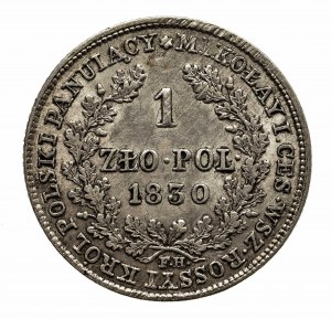 Polska, Królestwo Polskie, Mikołaj I 1825-1855, 1 złoty 1830, Warszawa