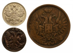 Rosja, zestaw 3 monet