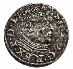Polska, Stefan Batory 1576-1586, trojak 1586, Ryga.