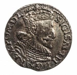 Polska, Zygmunt III Waza 1587-1632, trojak 1593, Malbork.