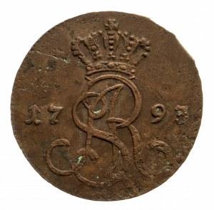Polska, Stanisław August Poniatowski 1764-1795, grosz 1793 M.V. Warszawa.