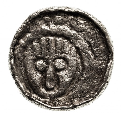 Polska, Władysław I Herman 1081-1102 Denar krzyżowy, Wrocław - głowa św. Jana
