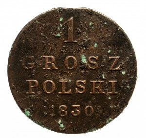 Królestwo Polskie, Mikołaj I 1825-1855, 1 grosz 1930 F.H. Warszawa.