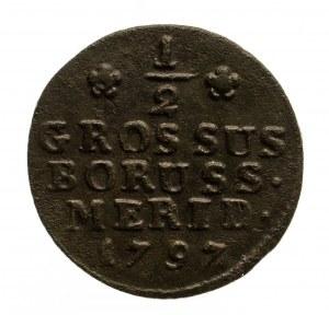 Prusy Południowe, Fryderyk Wilhelm II 1786-1797, półgrosz 1797 B, Wrocław.