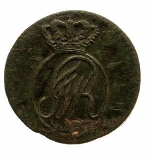 Prusy Południowe, Fryderyk Wilhelm II 1786-1797, szeląg 1797 B, Wrocław.