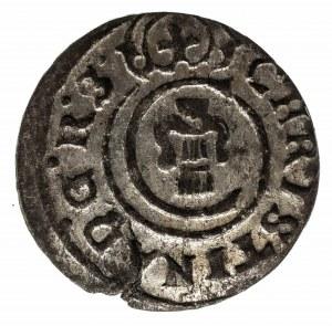 Ryga, Krystyna Waza , szeląg 1649, Livonia, WYŚMIENITY
