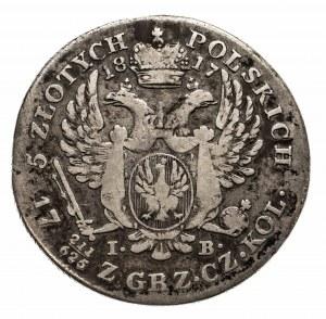 Królestwo Polskie, Aleksander I 1815-1825, 5 złotych 1817, Warszawa.