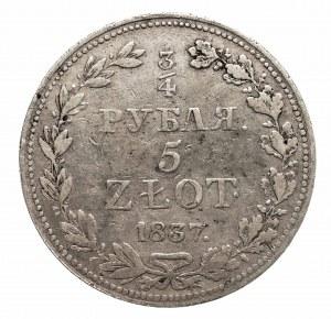 Polska, Zabór rosyjski, Mikołaj I 1825-1855, 5 złotych - 3/4 rubla 1837 MW, Warszawa (2)