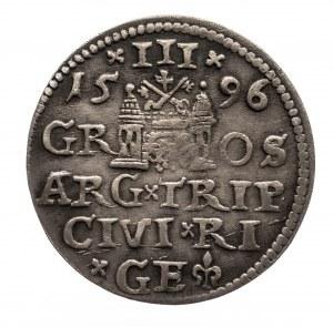 Polska, Zygmunt III Waza 1587-1632, trojak 1596, Ryga.