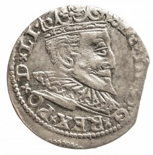 Polska, Zygmunt III Waza 1587-1632, trojak 1597, Ryga.