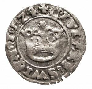 Śląsk, miasto Świdnica -Ludwik Jagiellończyk jako król Czech i Węgier 1516-1526, półgrosz 1524