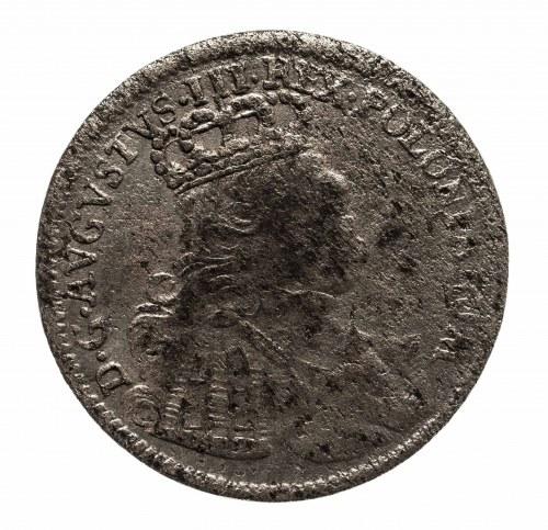 Polska, August III Sas 1733-1763, Szóstak 1755 EC, Lipsk.