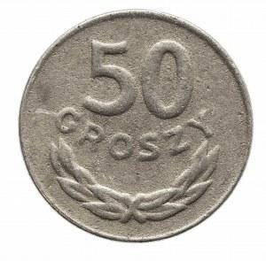 Polska, PRL 1944-1989, 50 groszy 1985, fałszerstwo z epoki !!!
