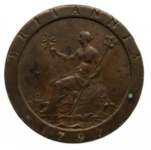Wielka Brytania, Jerzy III (1760–1820), 1 pens 1797, Birmingham
