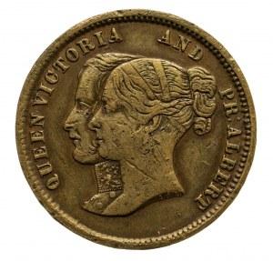 Anglia, Wiktoria i Albert, żeton pamiątkowy z okazji otwarica tunelów pod Tamizą 1842