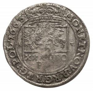 Polska, Jan II Kazimierz Waza 1649-1668, tymf (złotówka) 1663 A T, Kraków.