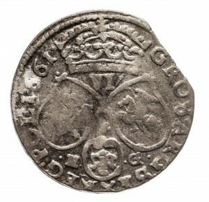 Polska, Jan II Kazimierz Waza 1649-1668, szóstak 1661 N G, Poznań.