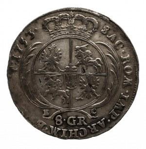 Polska, August III Sas 1733-1763, 8 groszy 1753, Lipsk.