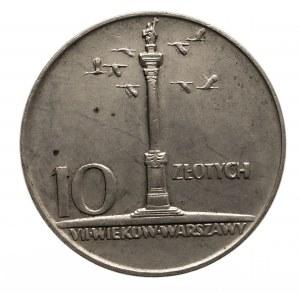 Polska, PRL 1944-1989, 10 złotych, Mała Kolumna 1966, Warszawa.