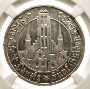 Wolne Miasto Gdańsk 1920-1939, 5 guldenów 1923, Utrecht; NGC MS61.