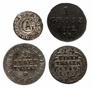 Polska, zestaw 4 drobnych monet