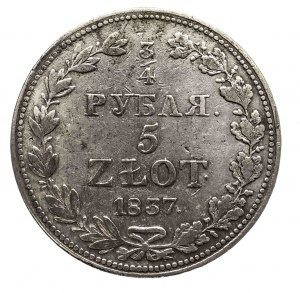 Polska, Zabór rosyjski, Mikołaj I 1826-1855, 5 złotych - 3/4 rubla 1837 MW, Warszawa (1)