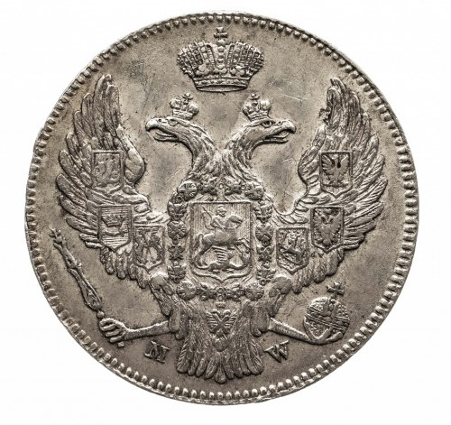 Polska, Zabór rosyjski, Mikołaj I 1826-1855, 2 złote / 30 kopiejek 1839 MW, Warszawa