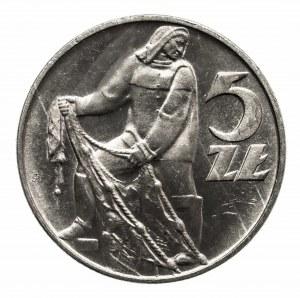 Polska, PRL 1944-1989, 5 złotych 1960 Rybak
