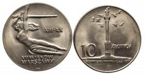 Polska, PRL 1944-1989, zestaw: 10 złotych 1965 Nike, 10 złotych 1965 Kolumna Zygmunta