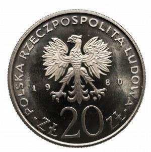 Polska, PRL 1944-1989, 20 złotych 1980 Olimpiada w Moskwie