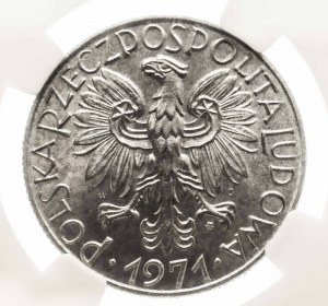 Polska, PRL 1944-1949, 5 złotych 1971 Rybak