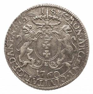 Polska, August III Sas 1733-1763, miasto Gdańsk, ort 1760