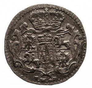 Polska, August III Sas 1733-1763, 1/48 talara (półgrosz) 1754 FWôF, Drezno