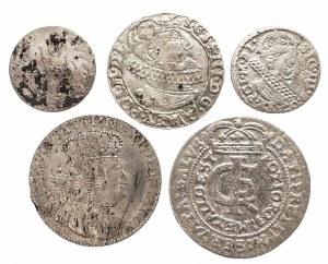 Polska, zestaw 5 monet srebrnych