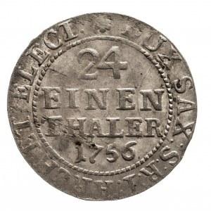 Polska, August III Sas 1733–1763, 1/24 talara (grosz) 1756 FWôF, Drezno