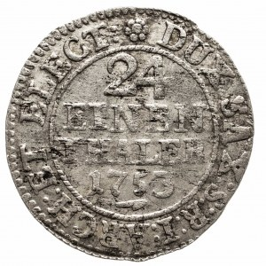 Polska, August III Sas 1733–1763, 1/24 talara 1753 FWôF, Drezno