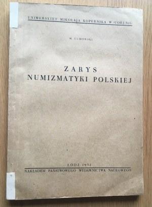 Marian Gumowski, ZARYS NUMIZMATYKI POLSKIEJ