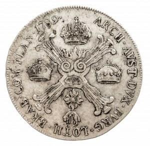 Austria, Niderlandy, Józef II, 1/2 talara 1789 A, Wiedeń