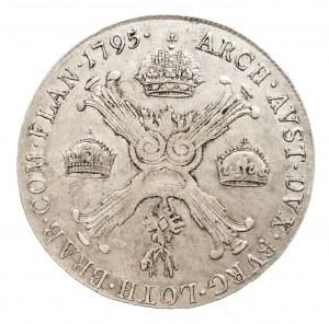 Austria, Niderlandy, Franciszek II, 1/2 talara 1795 C, Praga (1)
