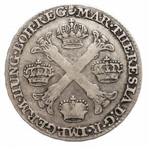 Austria, Niderlandy, Maria Teresa, 1/2 talara 1755, Bruksela