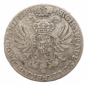 Austria, Niderlandy, Maria Teresa, 1/2 talara 1756, Bruksela